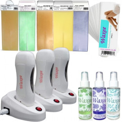 Triple base complete professional 100ml roller, roll on waxing starter kit